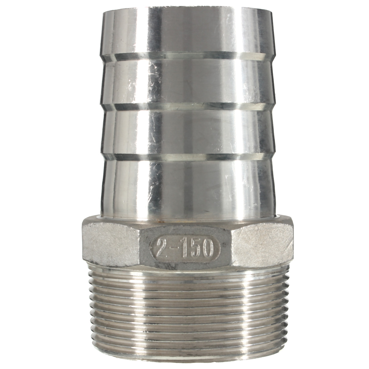 Stainless steel male thread pipe fitting barb hose tail
