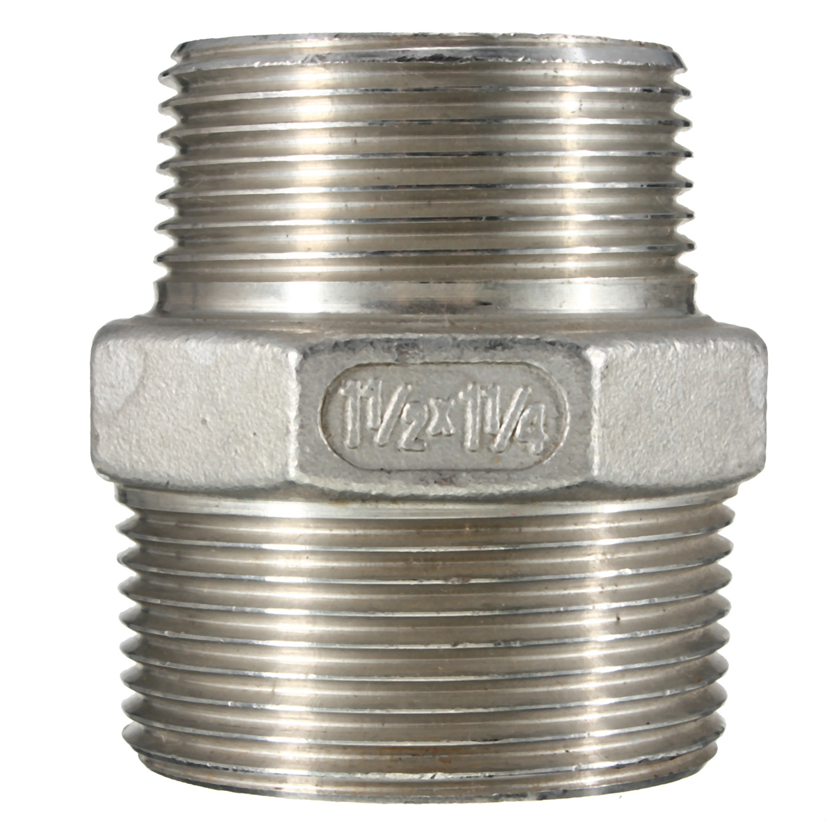 NPT Male x Male Hex Nipple Threaded Reducer Pipe Fitting 304 Stainless Steel