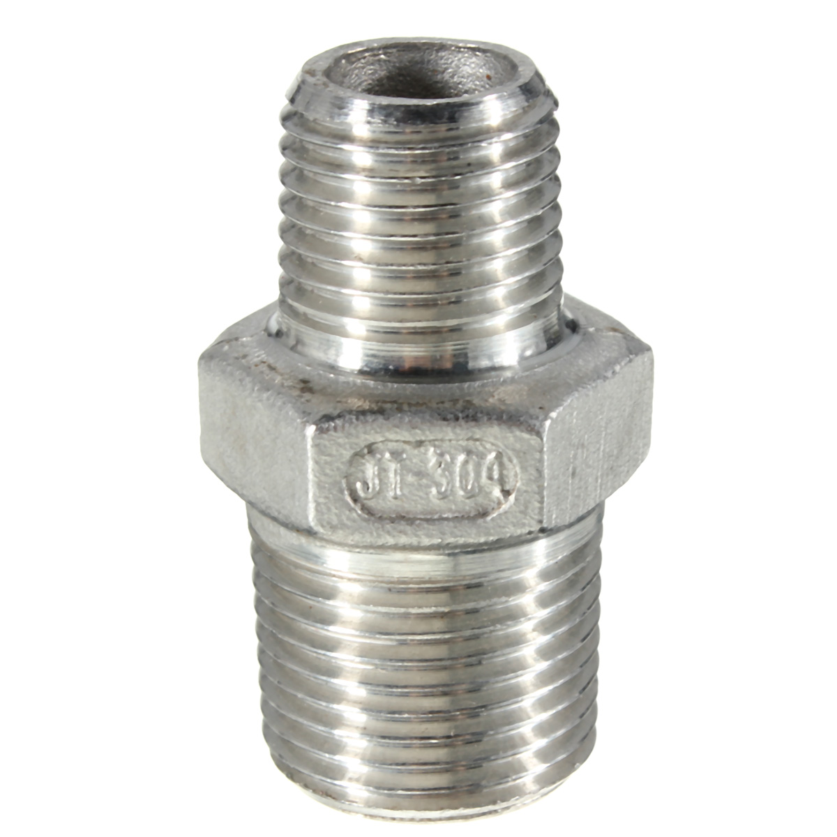 Stainless Steel 304 Male to Male Hex Nipple Threaded Reducer Pipe Fitting X