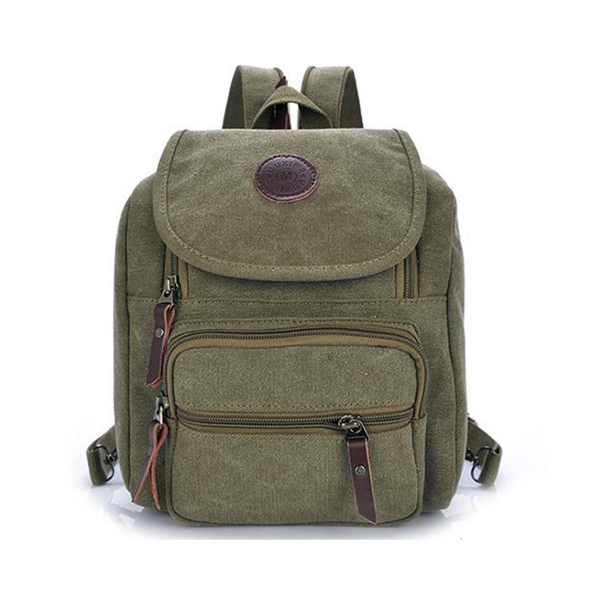 mens womens vintage canvas backpack satchel rucksack. Black Bedroom Furniture Sets. Home Design Ideas