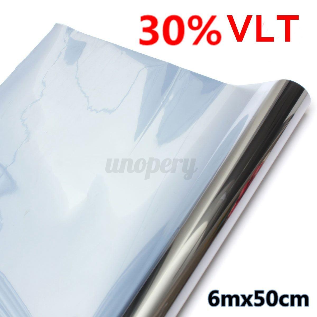 50cmx6m 6mt 15 30 pellicola finestre vetri specchi riflettente argento adesivo ebay - Pellicola riflettente per finestre ...