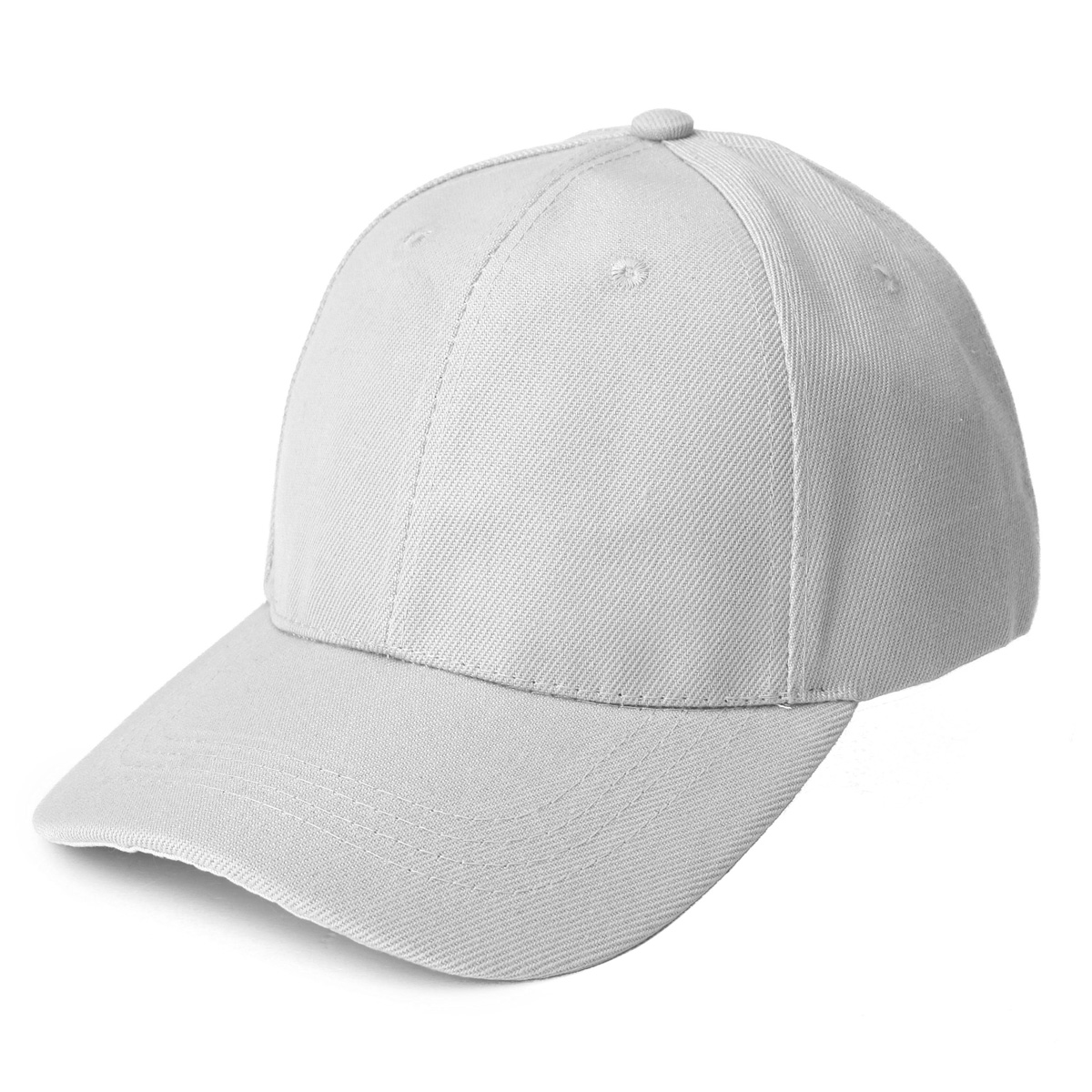 Plain Baseball Cap Solid Color Blank Curved Visor Peaked ...