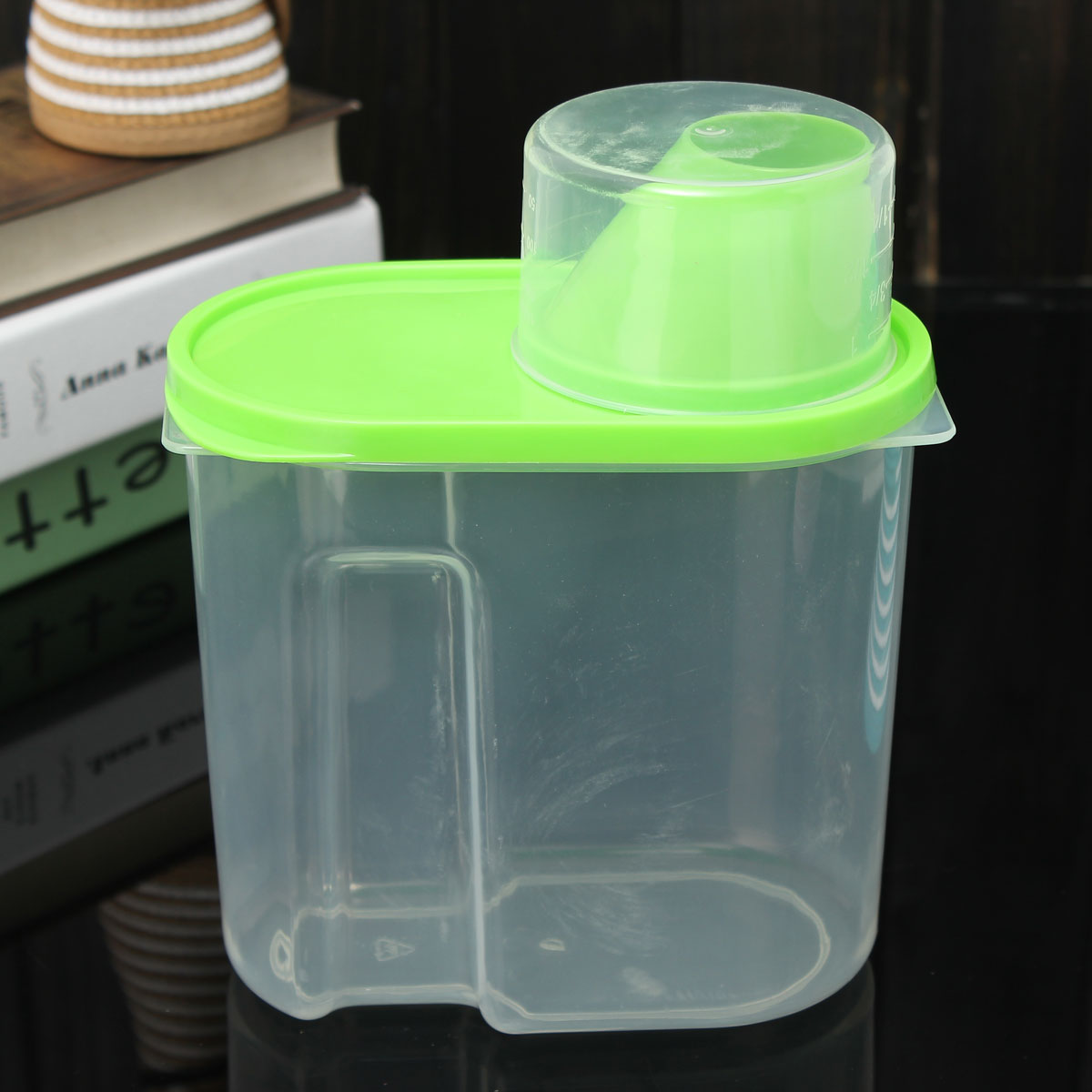 New 1.9L Plastic Kitchen Food Cereal Grain Bean Rice Storage Container Box  Case