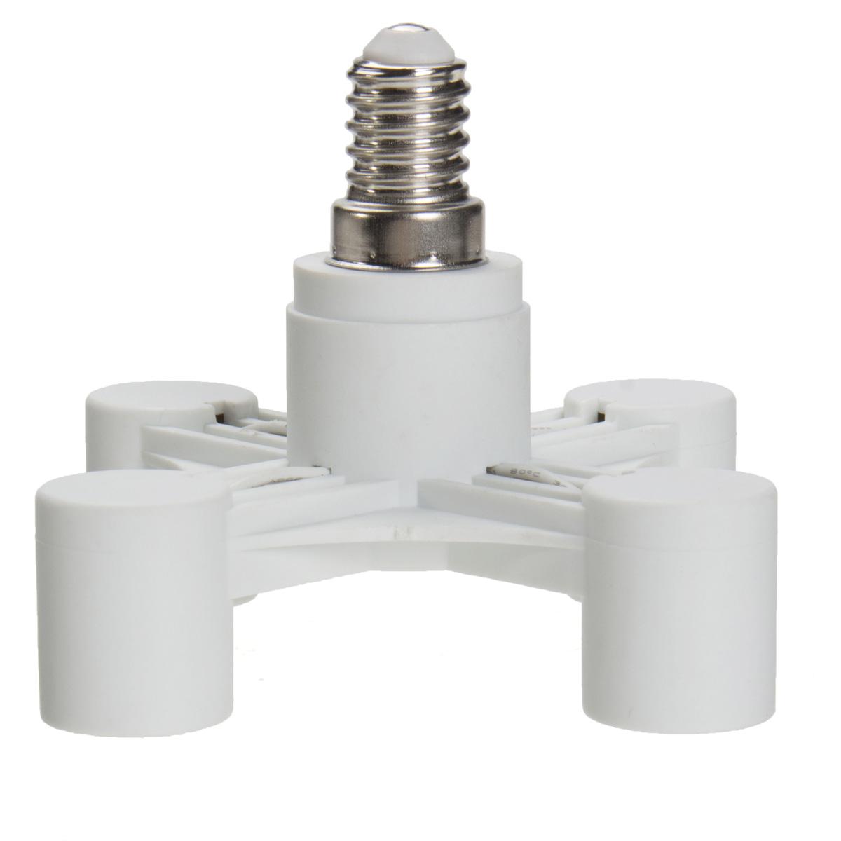 4 in 1 e14 e27 saving power light lamp bulb base adapter holder socket splitter ebay. Black Bedroom Furniture Sets. Home Design Ideas