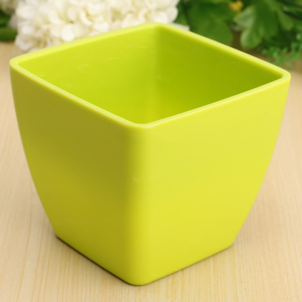 Colorful Square Plastic Flower Pots Floral Fleshy Household Home Gardening Decor
