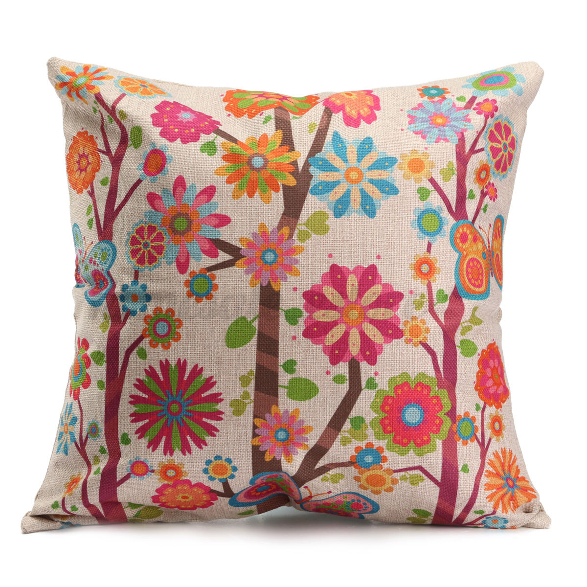 Decorative Bedroom Cushions : Vintage Simple Style Home Bedroom Decor Seat Back Pillow Case Cushion Cover