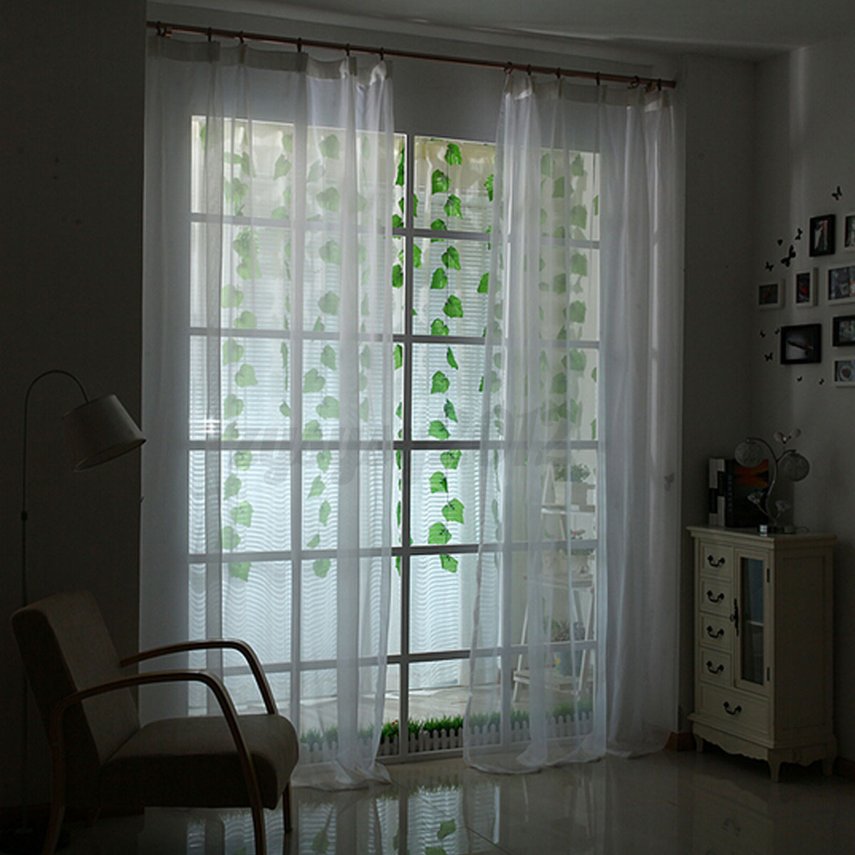 rideau fen tre porte cantonni re voilage frange chambre curtain d co 100x200cm ebay. Black Bedroom Furniture Sets. Home Design Ideas