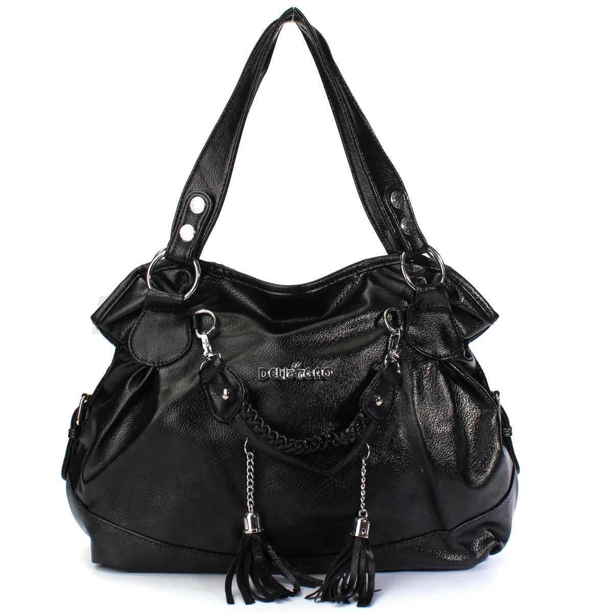 Women PU Leather Tassel Handbag Shoulder Crossbody Bag Tote Purse New Fashion