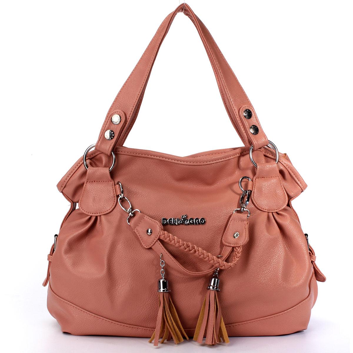 Handtasche Umhängetasche Damentasche Schultertasche Shopper Troddel Damen Tasche