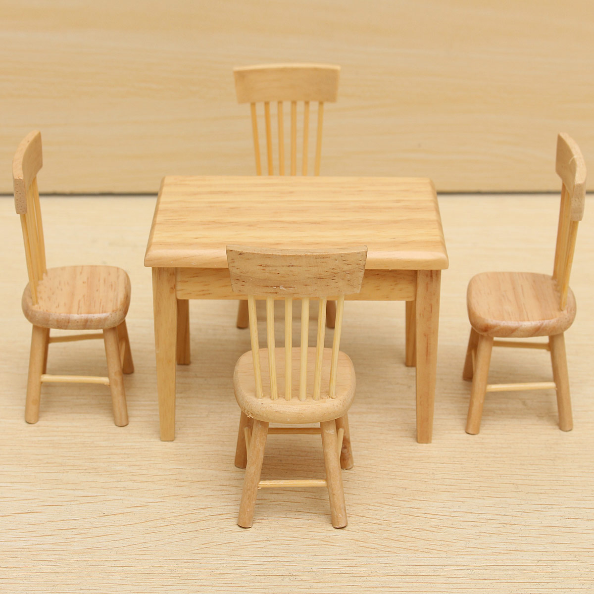1 12 Dollhouse Mini Furniture Wooden Dining Room Table 4