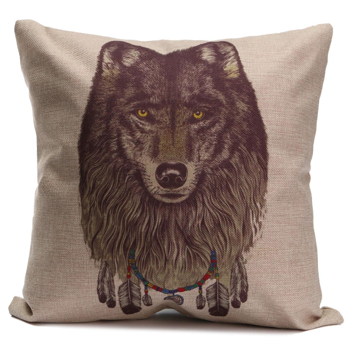 Throw Pillows With Wildlife : Animal World Home Decor Cotton Linen Pillow Case Sofa Waist Throw Cushion Cover eBay