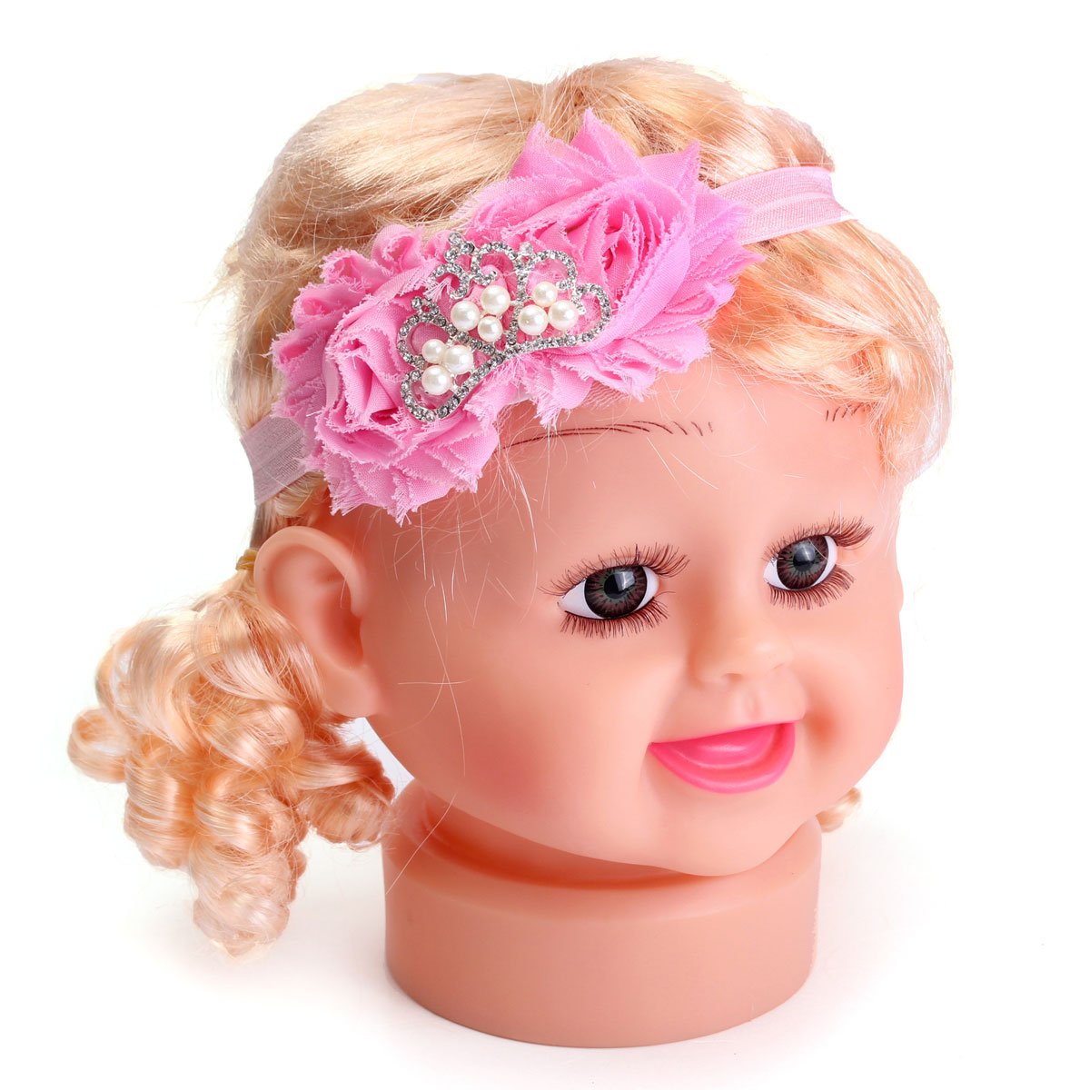 Baby Girls Toddler Rhinestone Crown Flower Headband ...