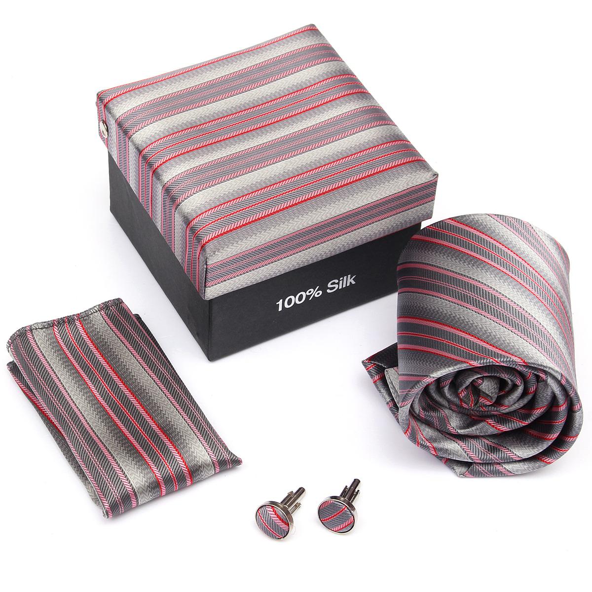 Mens Tie Hanky Cufflink SET For Wedding Business Solid Series Necktie 60 Colors