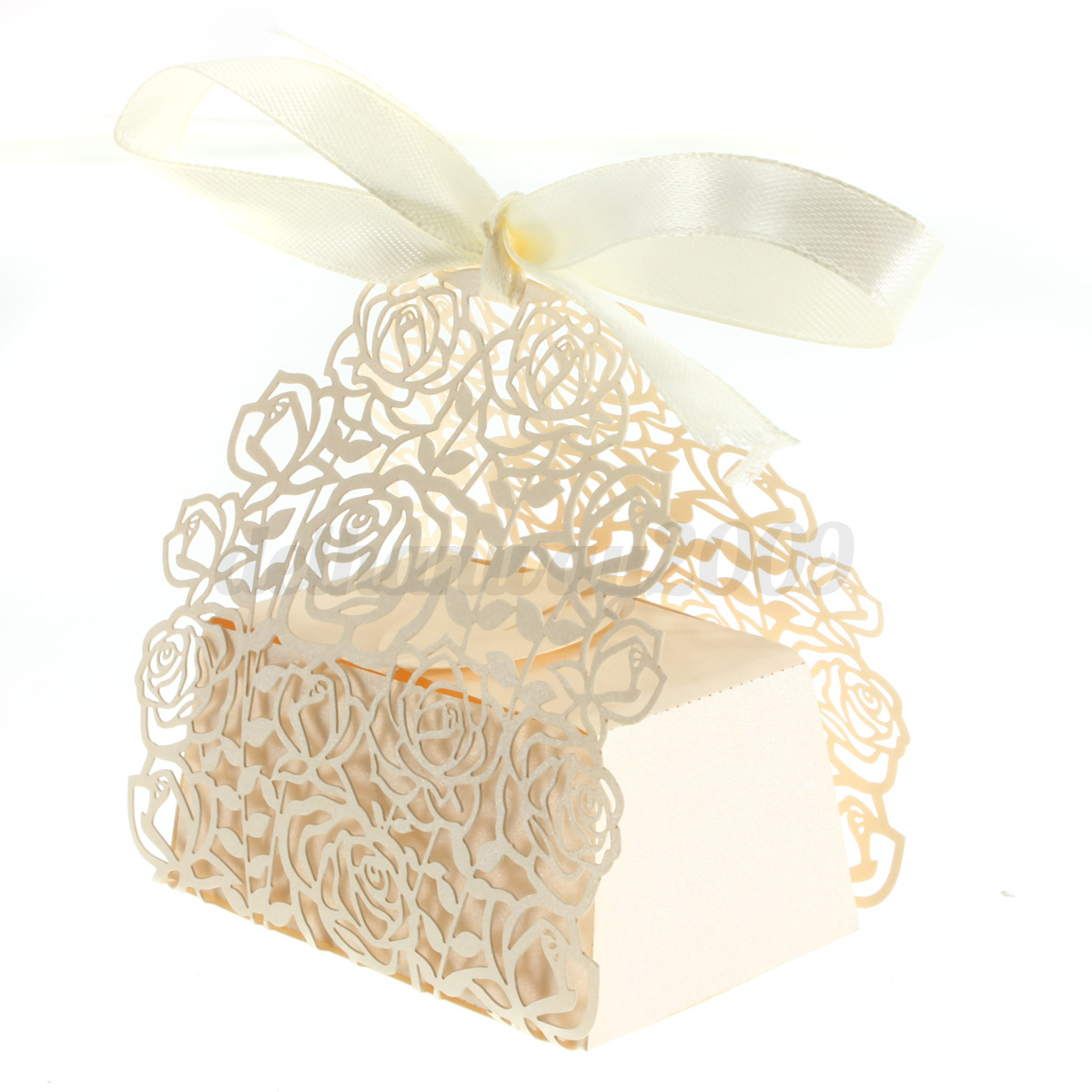 10 100PCS Luxury Wedding Party Xmas Sweets Cake Candy Gift Favour Favors Boxes