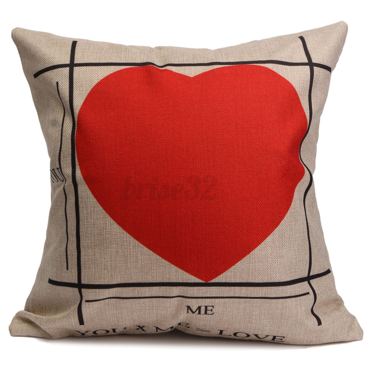 Square Throw Pillow Cover : Square Simple Retro Cotton Linen Throw Cushion Covers Pillow Case Home Decor eBay
