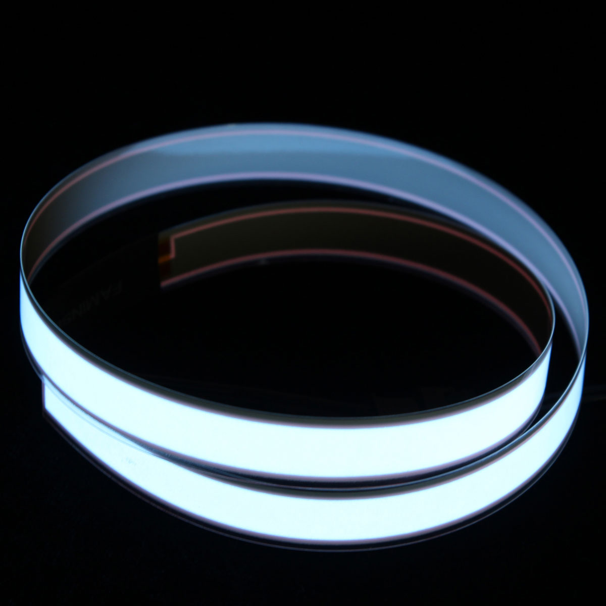 Flexible electroluminescent tape el wire cord glowing