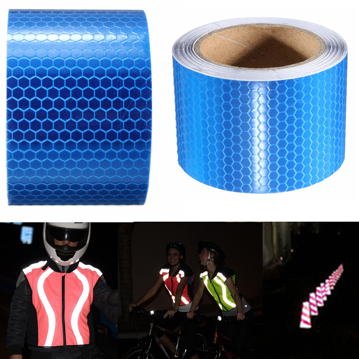 Warning Conspicuity Reflective Safety Tape Vinyl Roll Adhesive Sticker for Truck