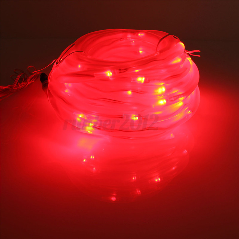 Led Tube String Lights : 10M 100 LED Solar Rope Tube String Strip Light Waterproof Christmas Party Decor eBay