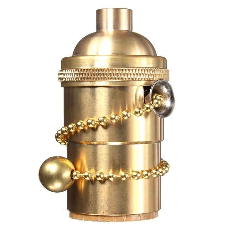 Hanging Light Bulb Fittings: E27 Copper Ceiling Pendant Vintage Screw Bulb Hang Lamp