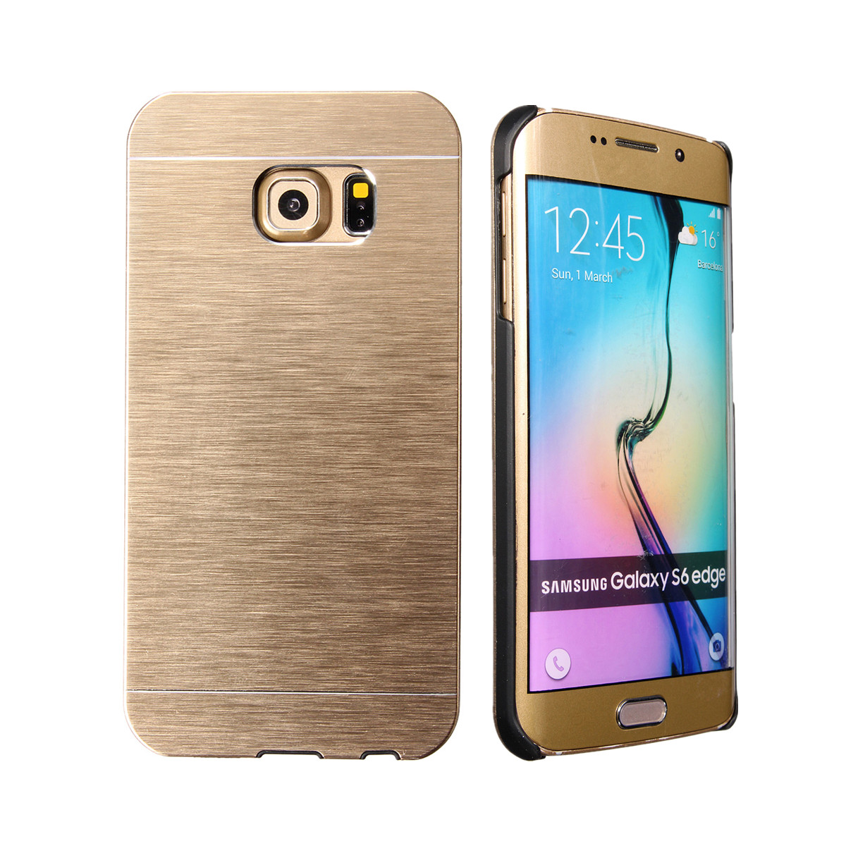 itm Luxe Metal Aluminium Chrome Dur Etui Housse Coque Pour Samsung Galaxy S Edge