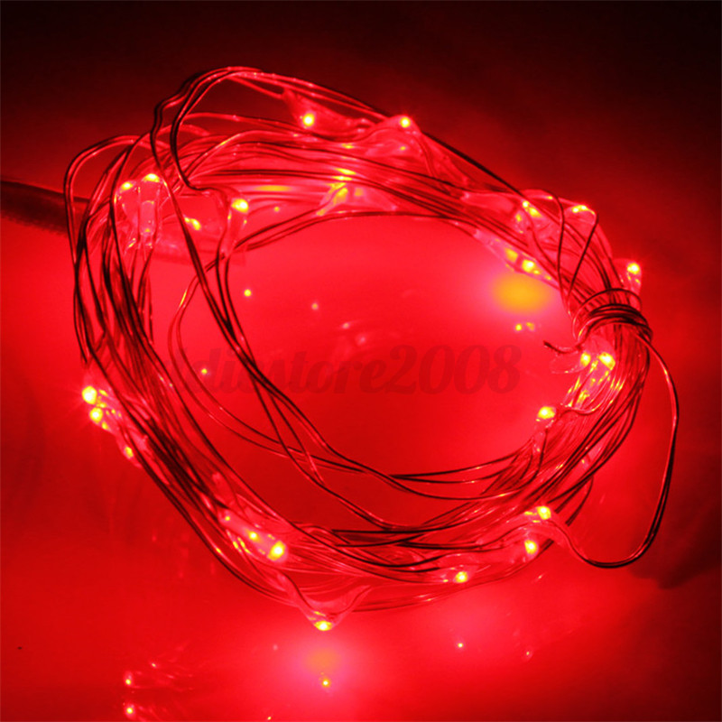 Battery Operated String Xmas Lights : 3M 30 LED Battery Operated Silver Wire String Fairy Light Waterproof Xmas Decor eBay