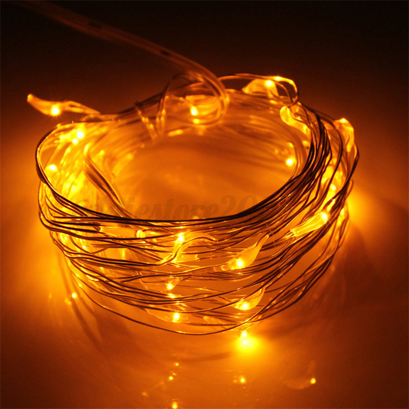3M 30 LED Battery Operated Silver Wire String Fairy Light Waterproof Xmas Decor eBay