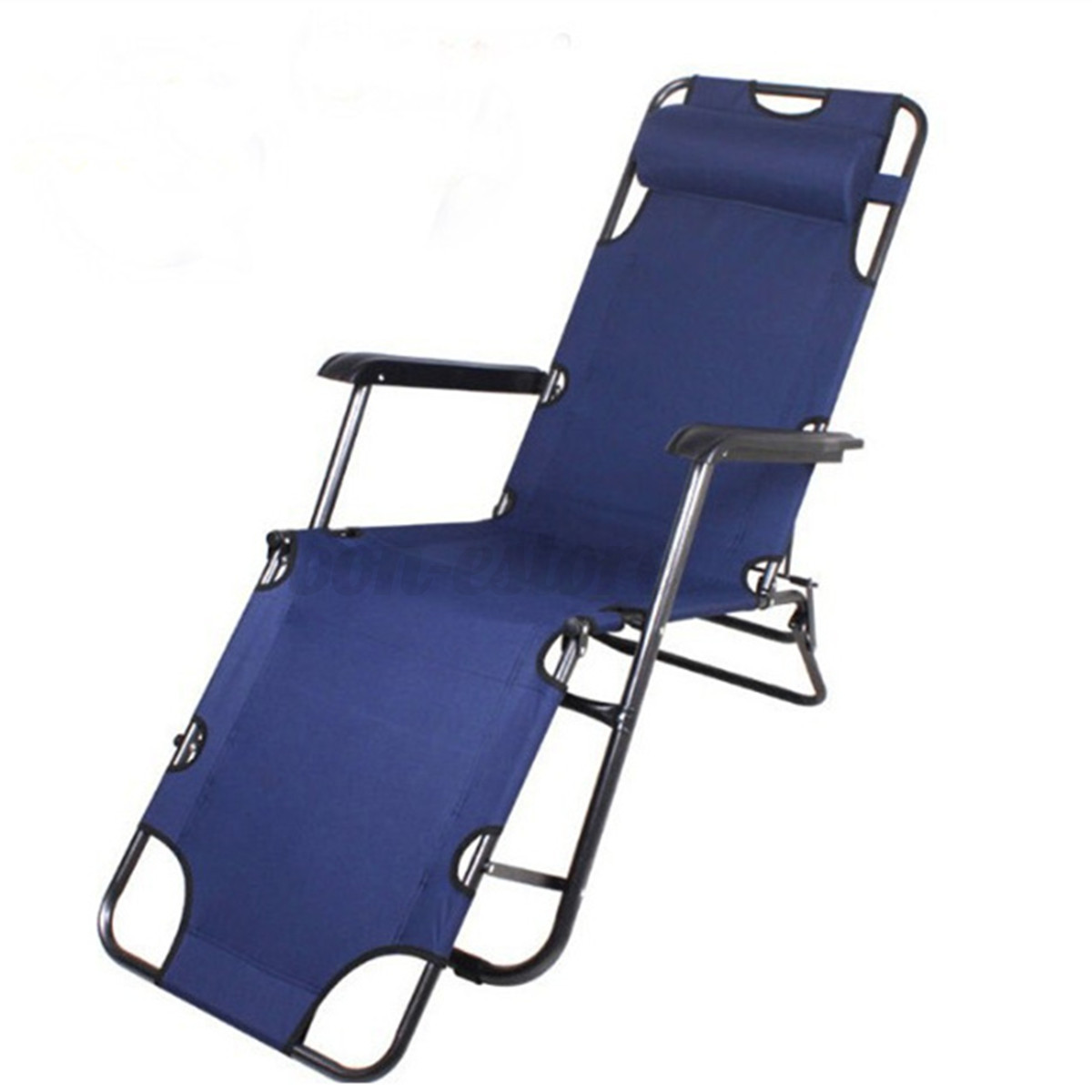 Outdoor folding reclining beach sun patio chaise lounge for Reclining patio chair