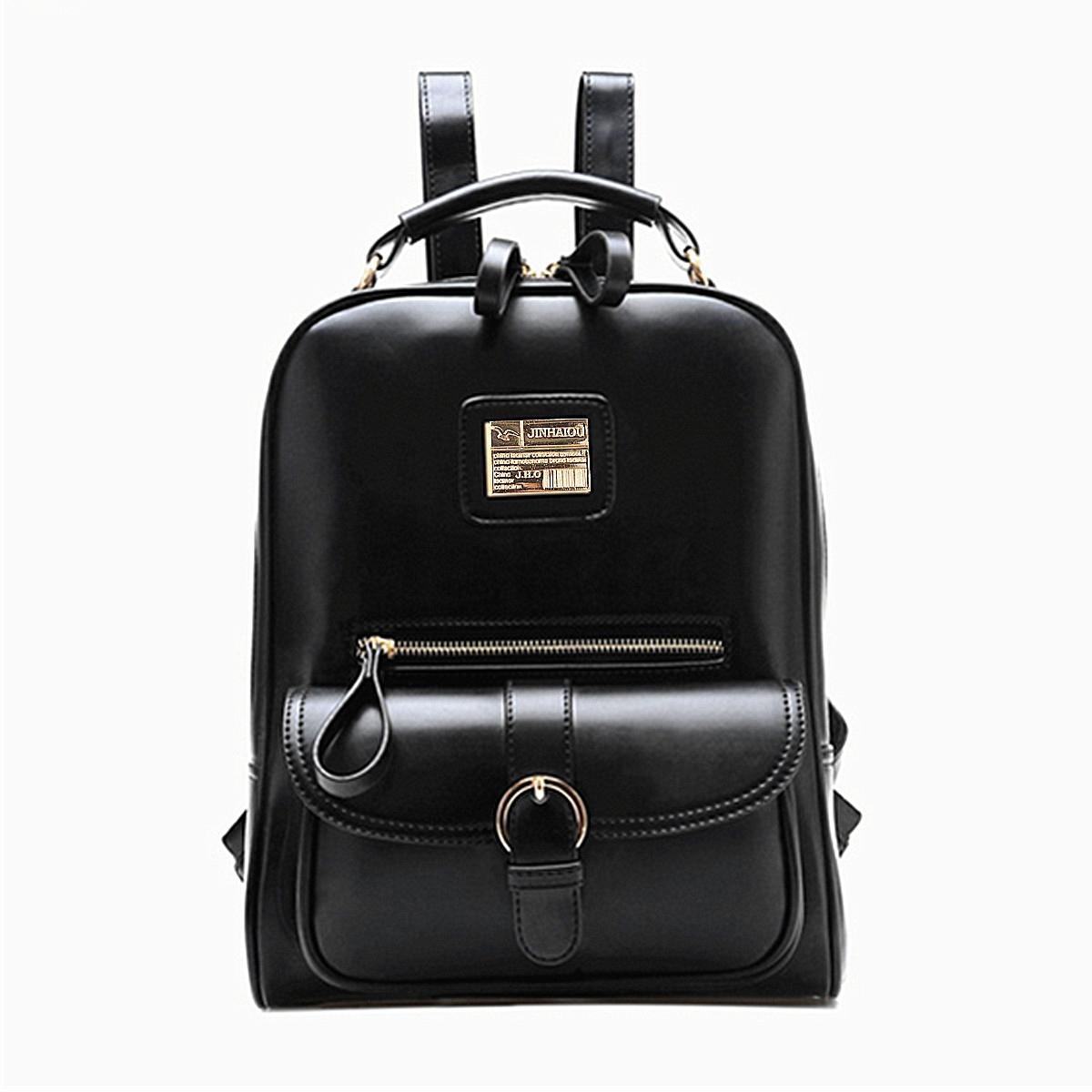 Fashion Women PU Leather Backpack Schoolbag Travel Rucksack Shoulder Bag