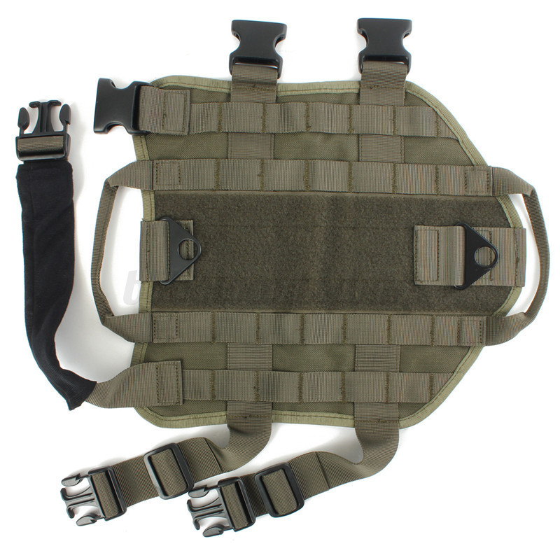 Training Tactical Dog Velcro Harness Molle Outdoor Milspec Canine Charge Vest