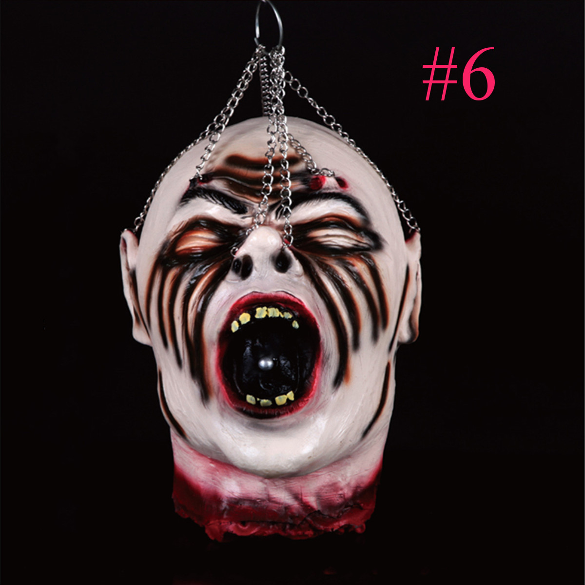 Scary halloween props diy scary halloween - Scary Hanging Bloody Head Rubber Latex Life Size Gory