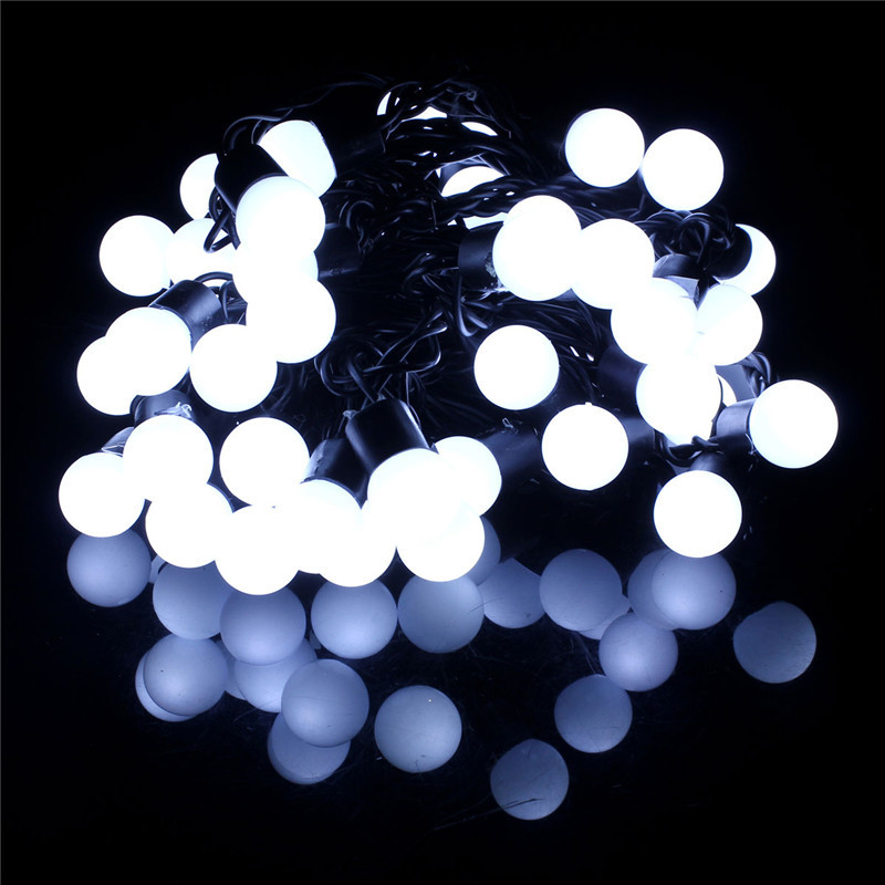 5M 50 Bulb Globe Ball LED Fairy Light String Christmas Party Wedding Decor 220V