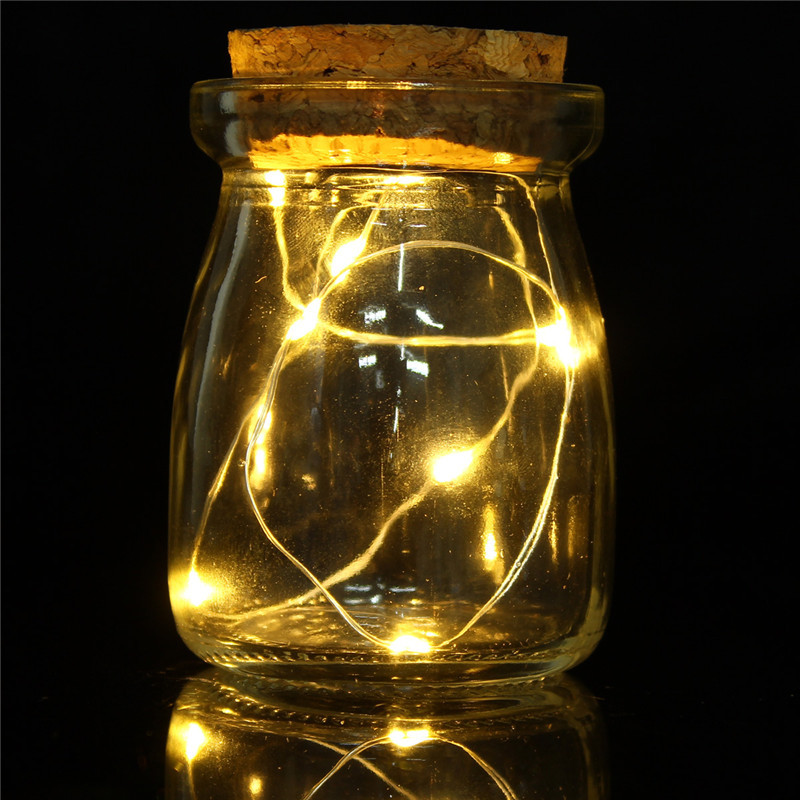 Micro 10 LED Seed Vine Vase Lamp Glass Bottle Fairy String Light Home Xmas Decor eBay