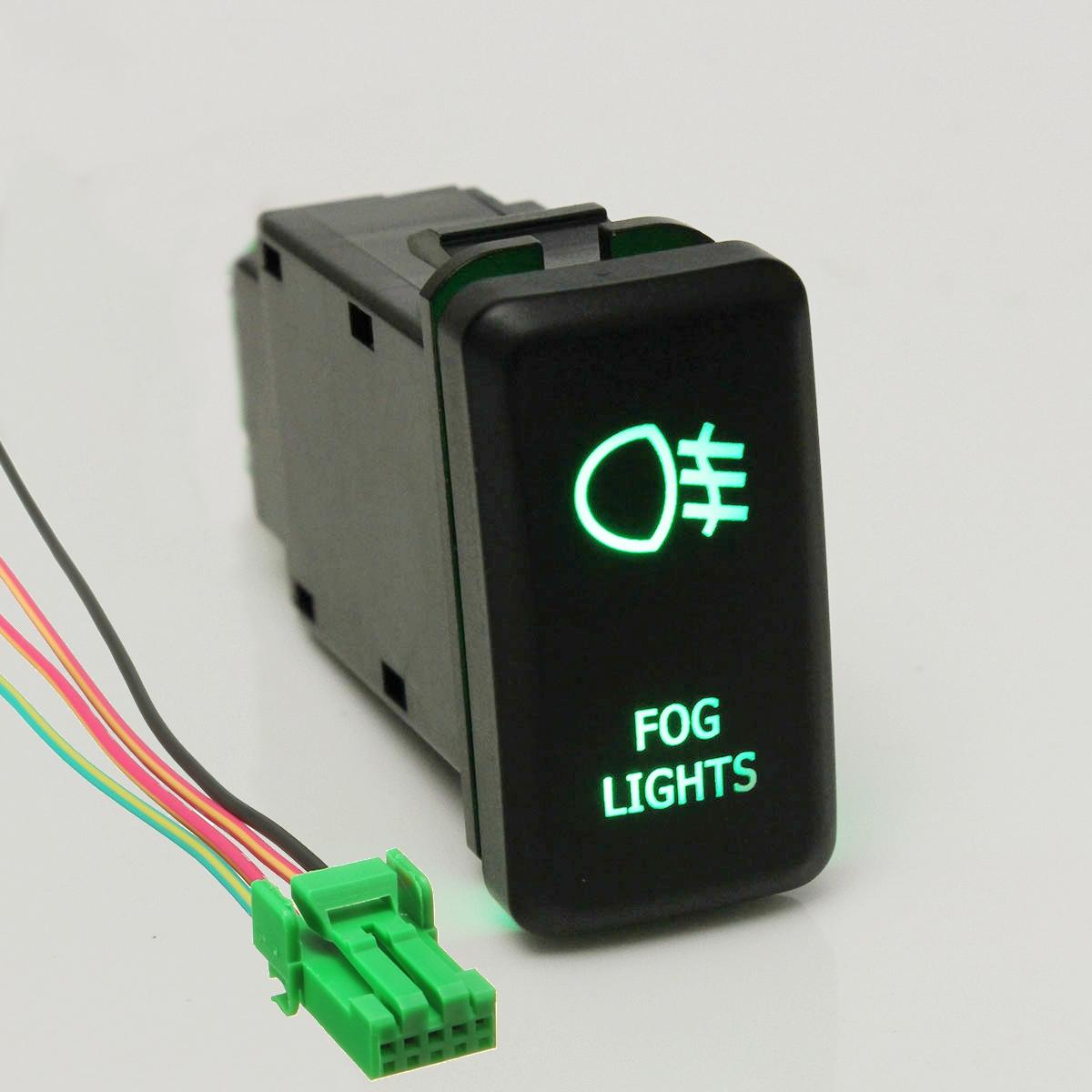 12v Led Fog Work Light Push Button Switch For Toyota