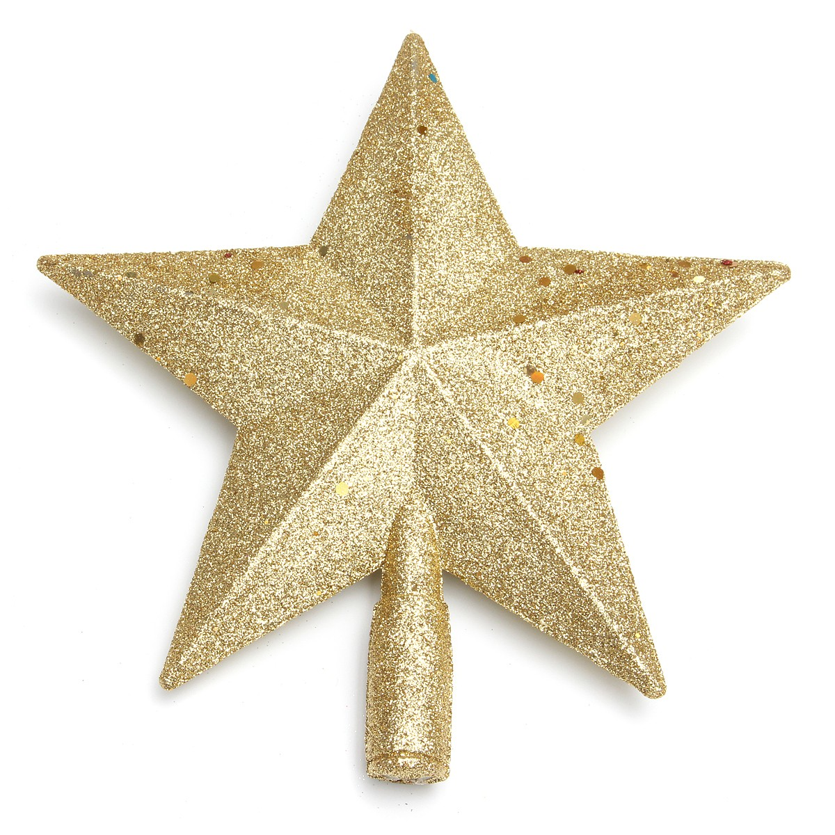 Star For A Christmas Tree: Chic Christmas Tree 3D Decor Shinny Glitter Star Shaped