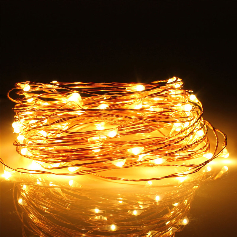 10M 100 LED Copper Wire String Fairy Light 12V Waterproof Christmas Wedding Xmas
