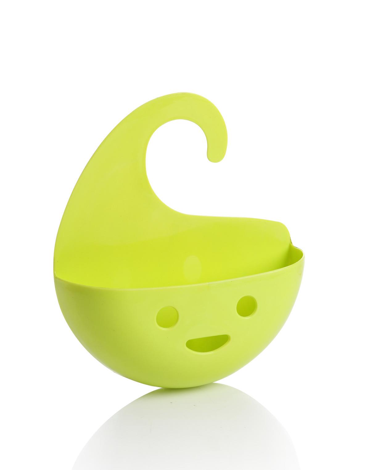 sourire visage vier pendaison stockage ponge sucer titulaire rack panier de douche. Black Bedroom Furniture Sets. Home Design Ideas