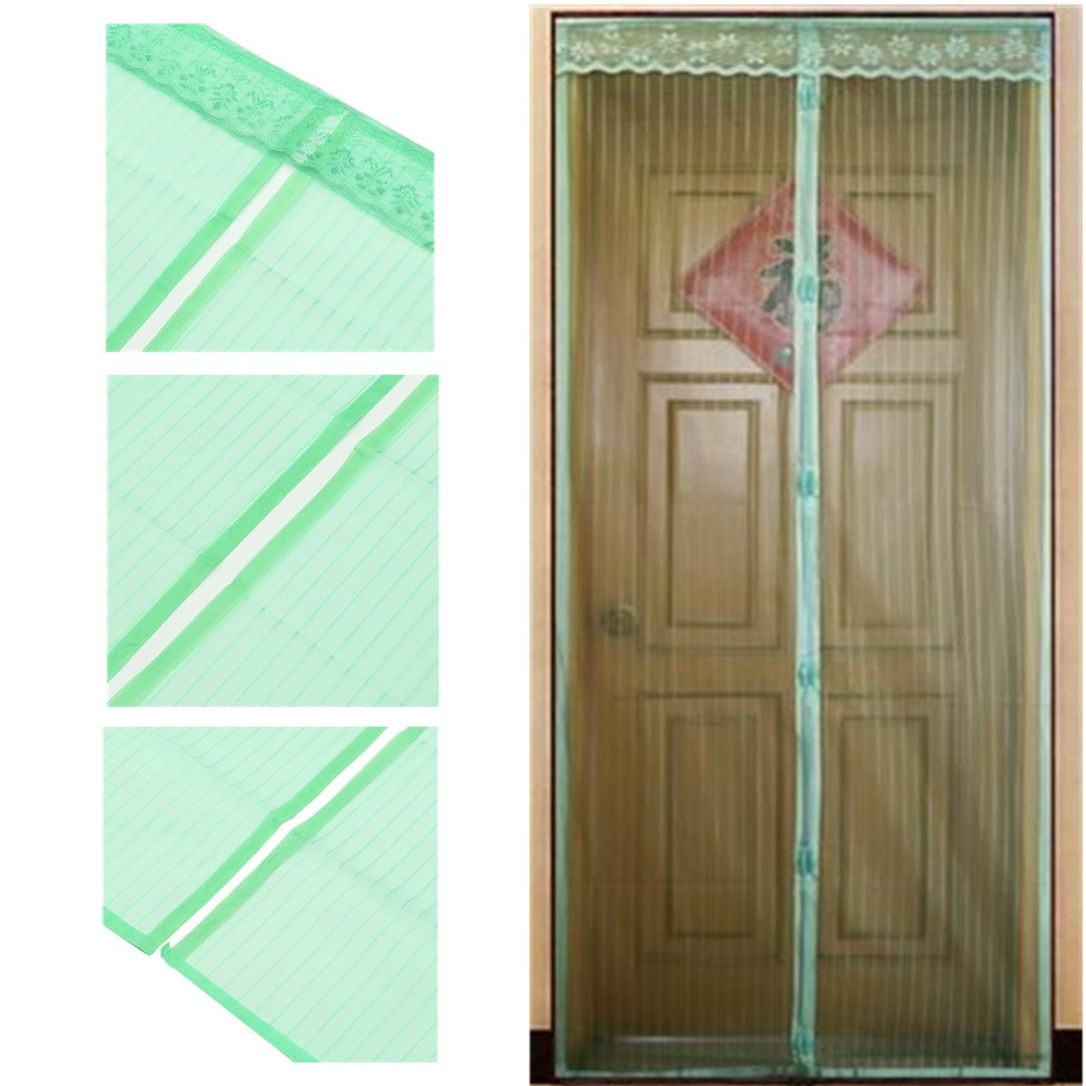 6 Color Magnetic Snap Magic Door Curtain Net Mesh Fly Bug Insect Mosquito Screen Ebay