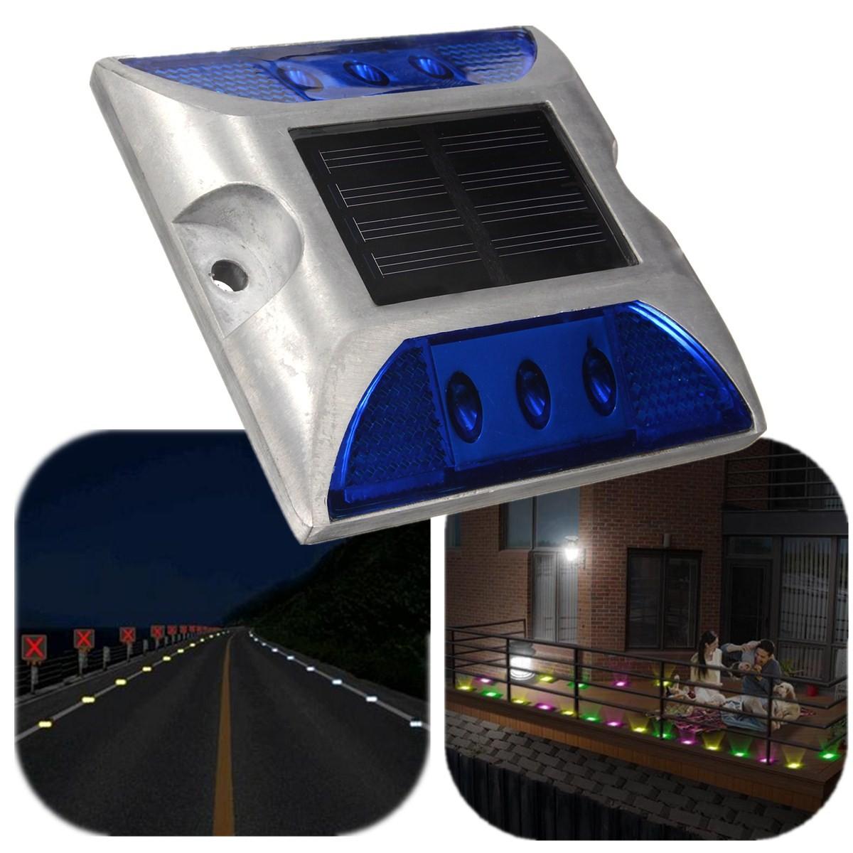 Aluminium etanche 6 led solaire lampe lumiere pour maison for Lumiere exterieur maison