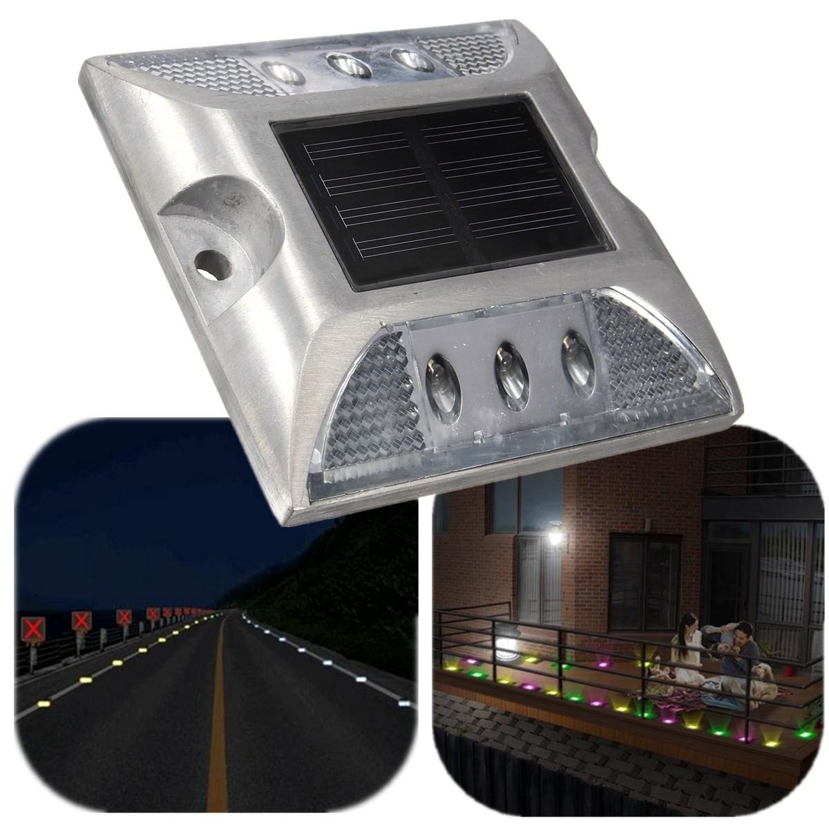 Aluminium etanche 6 led solaire lampe lumiere pour maison for Lampe led exterieur jardin