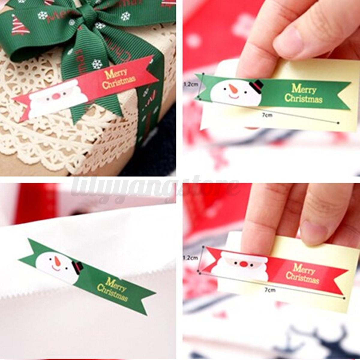 Christmas Ornament Series Decor Posted Sealing Stickers Gift Box Card Bag Labels