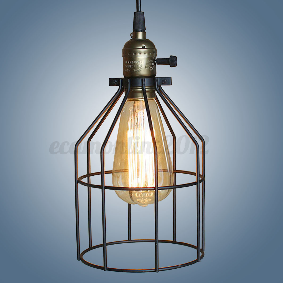 4 type retro metal cage abat jour treillis lampe ampoule industrie protection ebay. Black Bedroom Furniture Sets. Home Design Ideas