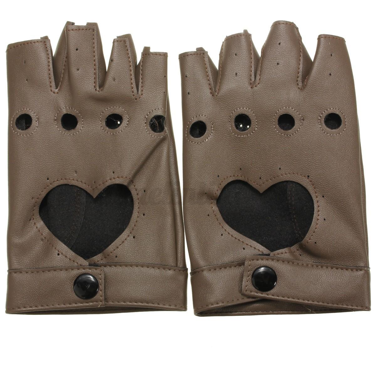 punk gants mitaines poign e doigts cuir v lo moto conduite court cosplay adulte ebay. Black Bedroom Furniture Sets. Home Design Ideas