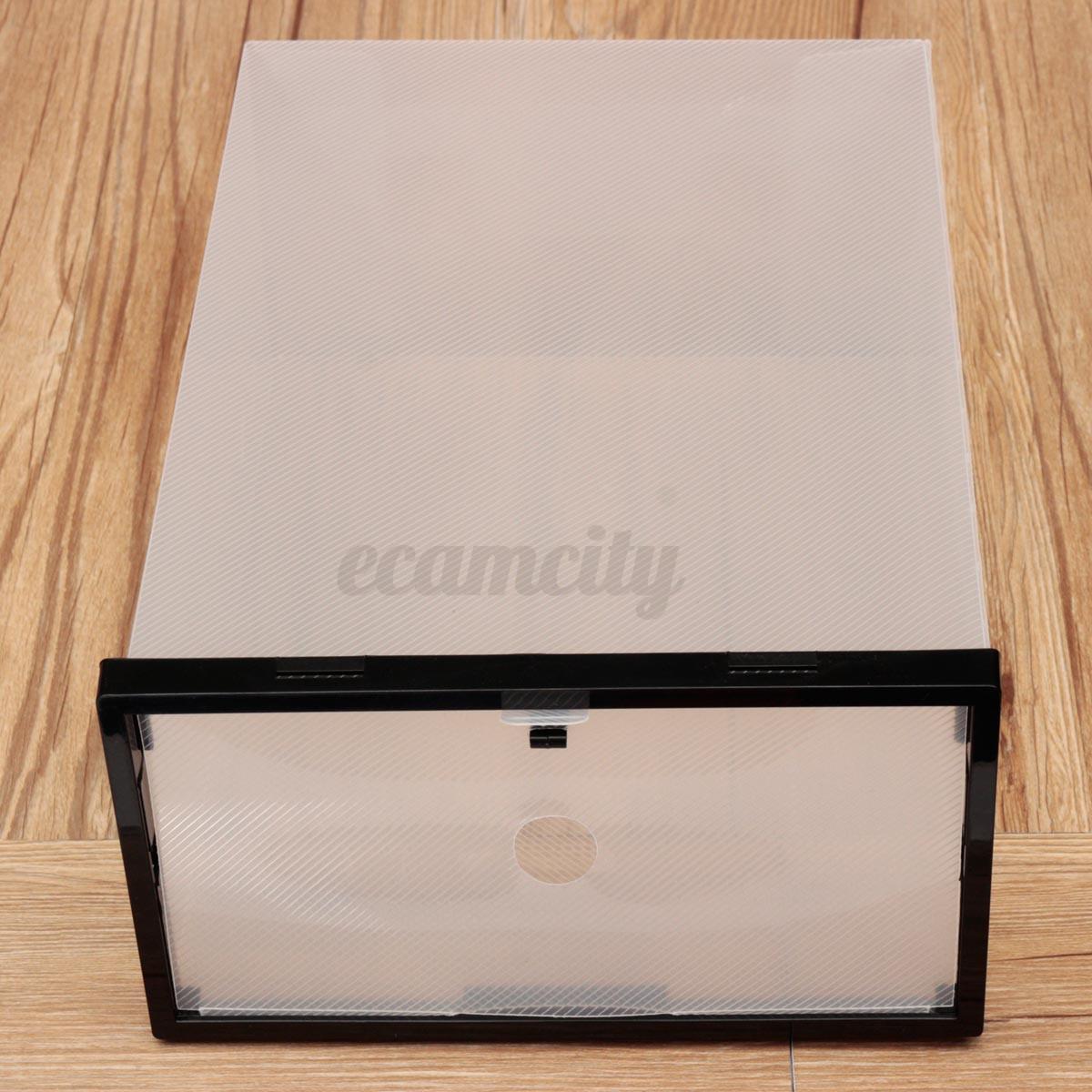 Plastica trasparente impilabile scatola da scarpe case - Scatole porta scarpe ...