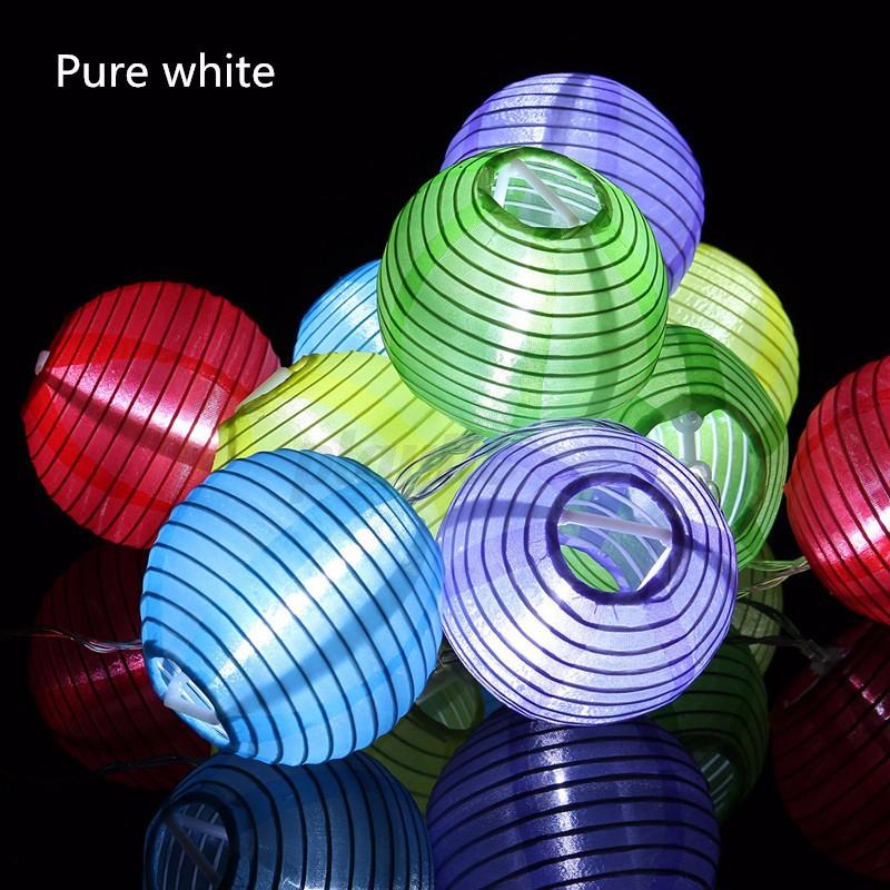 Chinese Lantern String Lights Outdoor : 1.2M 10 LED Battery Operated String Light Chinese Lantern Lamp Party Xmas Garden eBay