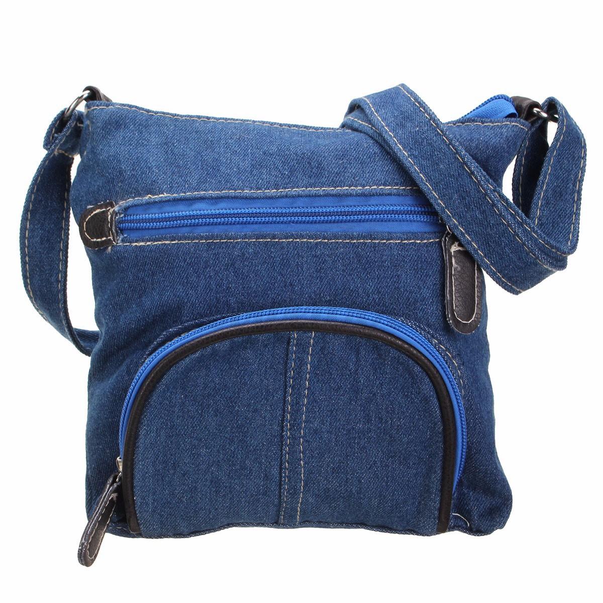 Denim Ladies Women Messenger Crossbody Shoulder Bag Handbag Tote Purse Satchel | eBay