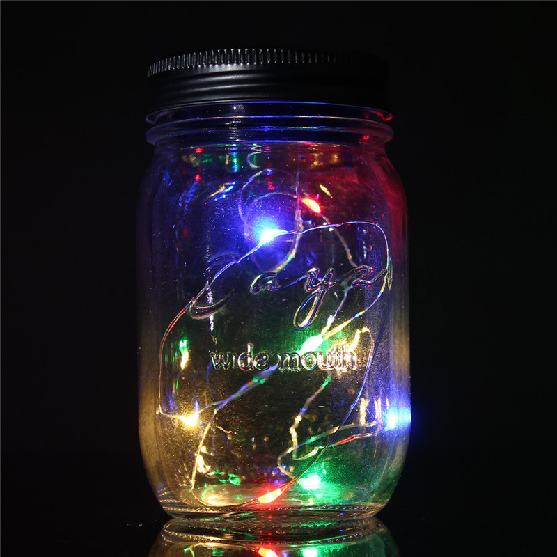 Glass String Lights Outdoor : Solar Hanging Glass Jar Lamp String Light Landscape Outdoor Xmas Wedding Patry eBay