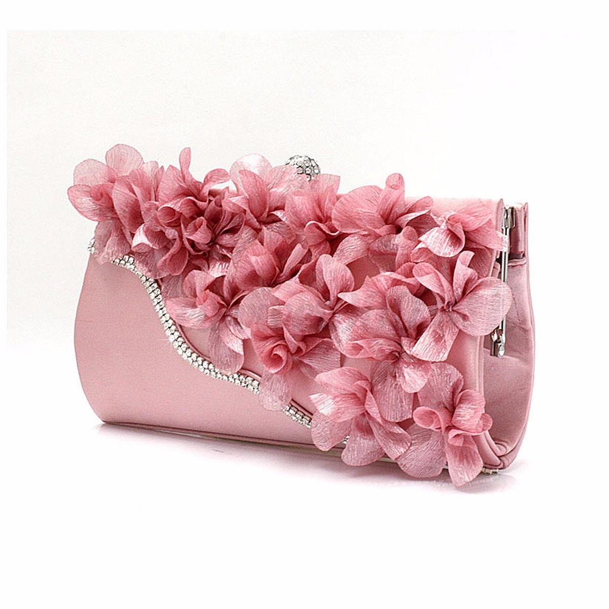 Beautiful Flower Rhinestone Evening Bag Wedding Party Prom Clutch Purse Handbag | EBay