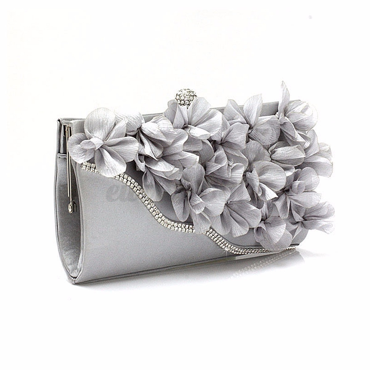 Beautiful Flower Rhinestone Evening Bag Wedding Party Prom Clutch Purse Handbag | EBay