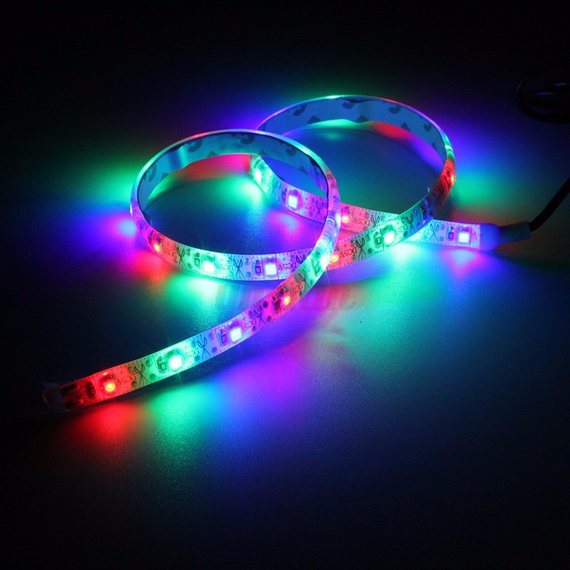 usb led rgb 3528 led 30 smd 50cm lichterkette strip streifen lichtleiste lampe ebay. Black Bedroom Furniture Sets. Home Design Ideas