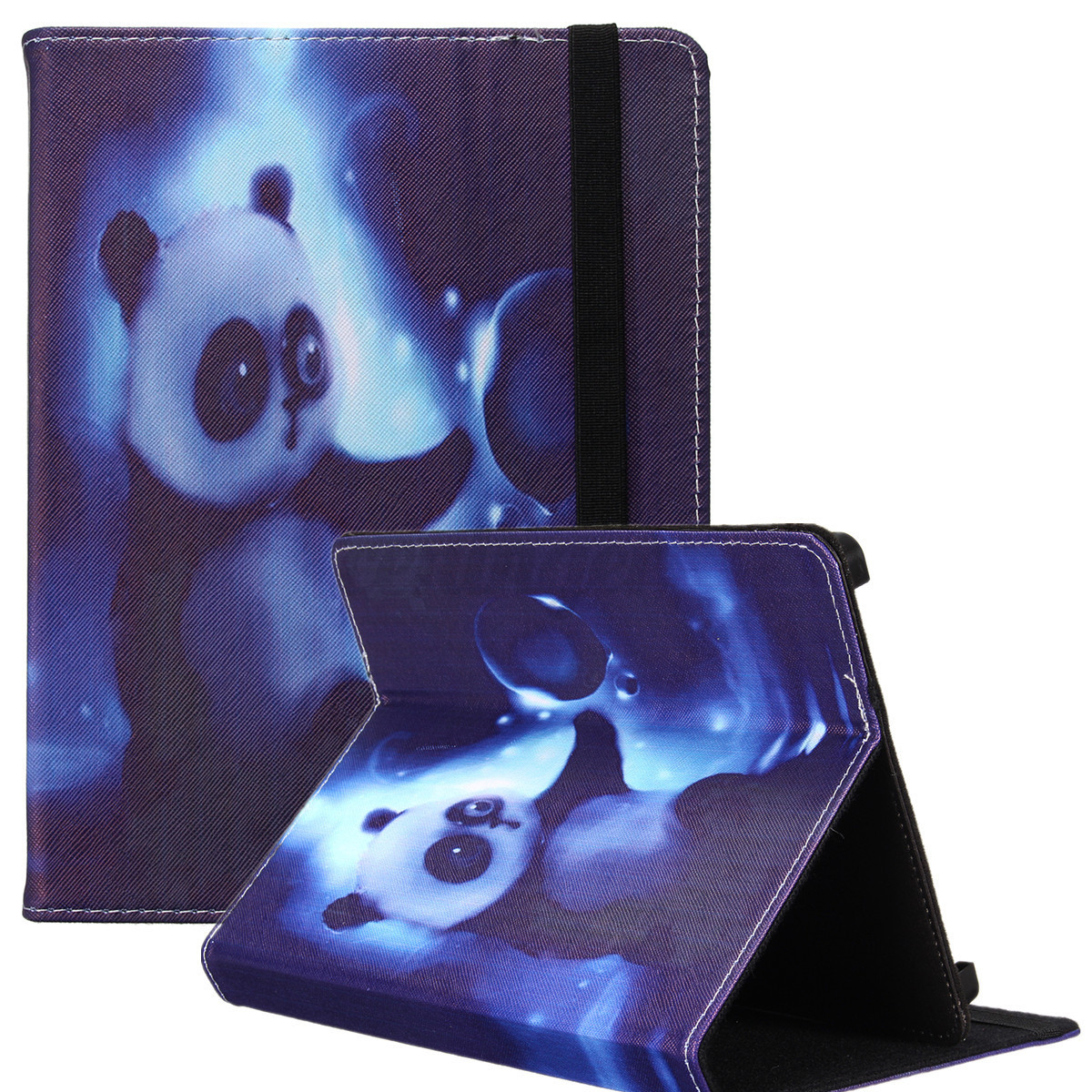 Universal Pattern Durable Leather Folding Folio Case Cover Stand For 8'' Tablet